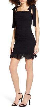 Endless Rose Smock Detail Sleeveless Body-Con Dress