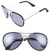 BP Women's Denim Aviator 58Mm Sunglasses - Blue