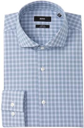 HUGO BOSS Jason Check Slim Fit Dress Shirt