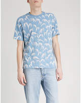 Sandro Palm leaf-print cotton-jersey T-shirt