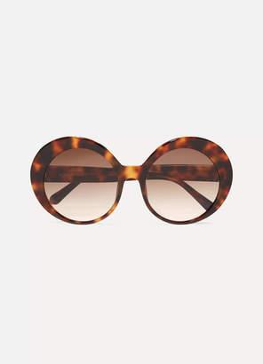 Linda Farrow Round-frame Tortoiseshell Acetate Sunglasses