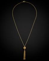 Italian Gold 14K Filigree Bead Tassel Necklace