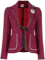 Hache checked fitted jacket