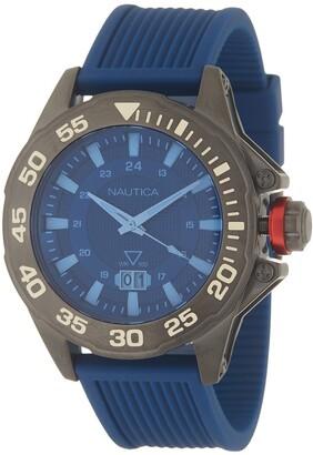 Nautica Men's Westview Silicone 3-Hand Watch, 44mm