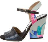 Dries Van Noten Metallic Ankle Strap Sandals