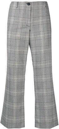 Aalto Cropped Checked Flared Trousers