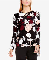 Vince Camuto High-Low Floral-Print Blouse