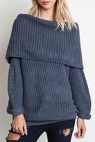 Umgee USA Slouchy Ribbed Sweater