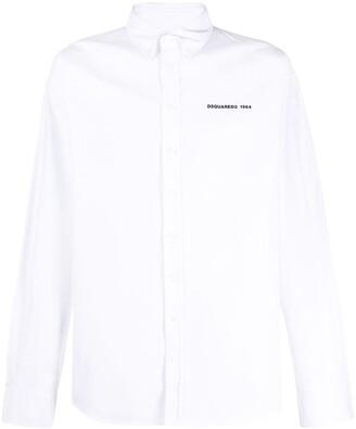 DSQUARED2 Logo-Print Button Down Shirt