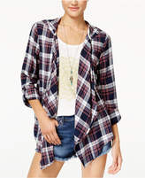 Roxy Juniors' Plaid Hooded City Poncho