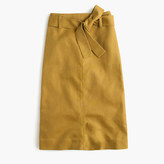 J.Crew Tie-waist skirt in cotton-linen