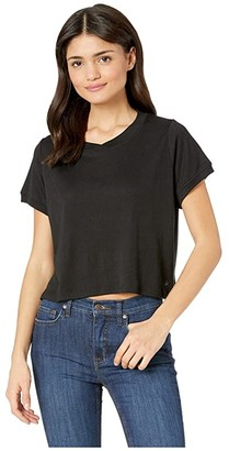 Splendid Studio Core Boxy Tee (Black) Women's T Shirt