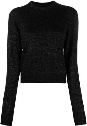 Victoria Victoria Beckham Metallic-Threaded Knitted Jumper