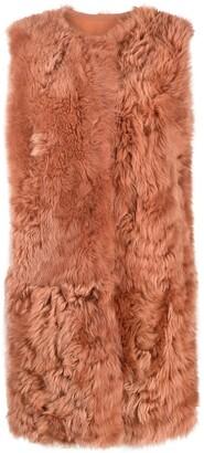 Yves Salomon Longline Lamb Fur Gilet