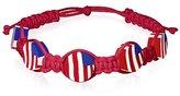 My Daily Styles USA American Flag Beaded Cord Adjustable Macrame Bracelet