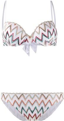 Missoni Mare Bow Detailed Zigzag Bikini Set