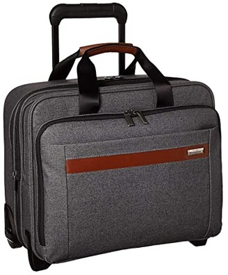 Briggs & Riley Kinzie Street - Medium Expandable Rolling Brief (Grey) Carry on Luggage