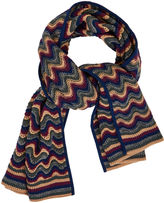 BCBGMAXAZRIA Striped Stitch Scarf