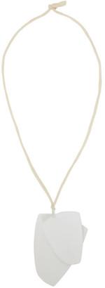 Simon Miller White Double Blade Pendant Necklace