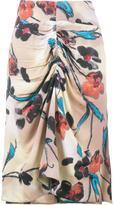 Marni Lucid print gathered skirt - women - Viscose/Silk - 38