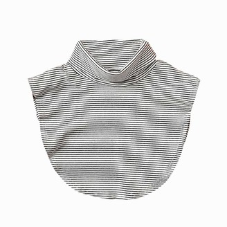 Qitiner Women Knitted Fake Collar Detachable Autumn Sweater Collar (Grey Striped)