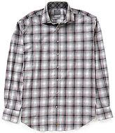 Thomas Dean Big & Tall Long-Sleeve Plaid Woven Shirt