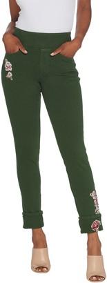 Belle By Kim Gravel Flexibelle Pull On Cuffed Ankle Jeans