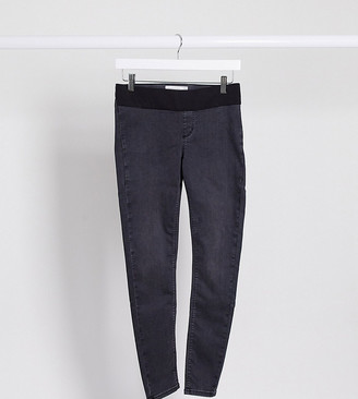 Topshop Maternity Joni underbump jeans in washed black