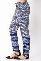 LOVE21 LOVE 21 Perfectly Posh Scarf Print Pants