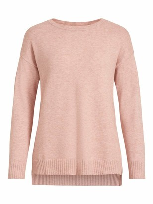 Vila Women's VIRIL HIGH Low L/S Knit TOP-NOOS Sweater