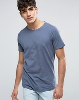 Selected T-Shirt with Curved Hem