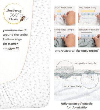 Burt's Bees Bold Stripe Organic BEESNUG Fitted Crib Sheet