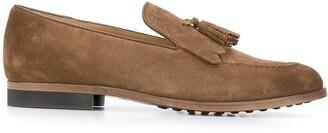 Tod's tassel-embellished leather loafers