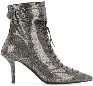 Philosophy di Lorenzo Serafini Rhinestone Lace-Up Boots