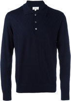 Brioni embossed zig zag polo shirt