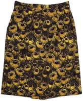 Milly Yellow Peacock Print Silk Skirt