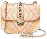 Valentino Garavani Glam Lock Native Couture 1975 Small Leather Shoulder Bag