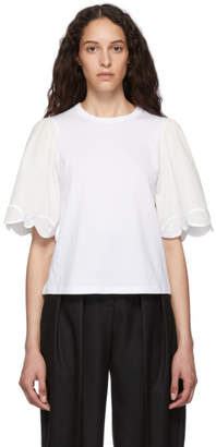 See by Chloe White Embellished T-Shirt