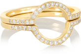 Ileana Makri Circle Set Of Two 18-karat Gold Diamond Rings - 56