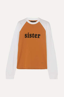 Acne Studios Eggan Printed Cotton-jersey T-shirt - Orange