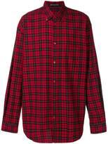 Balenciaga Bal plaid button down shirt