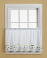 "CHF Clover 58"" x 36"" Pair of Tier Curtains"