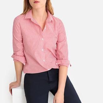 La Redoute Collections Asymmetric Striped Cotton Shirt