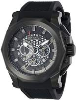 "Orefici Unisex ORM2C4803 ""Gladiatore"" Black Ion-Plated Stainless Steel Watch with Black Rubber Band"