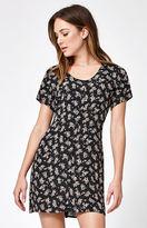 Lisakai Floral Print Button-Down Shift Dress