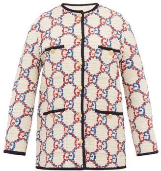 Gucci GG Boucle Tweed Jacket - White Multi