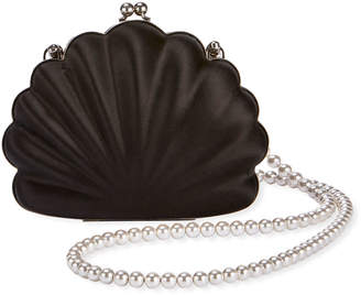 Balenciaga Beads Shell Satin Clutch Bag