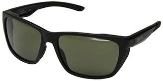 Smith Optics Longfin (Matte Black/ChromaPop Polarized Gray Green Lens) Athletic Performance Sport Sunglasses