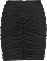 Norma Kamali Gathered jersey mini skirt