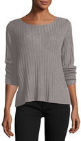 Eileen Fisher Ribbed Wool-Blend Sweater, Petite